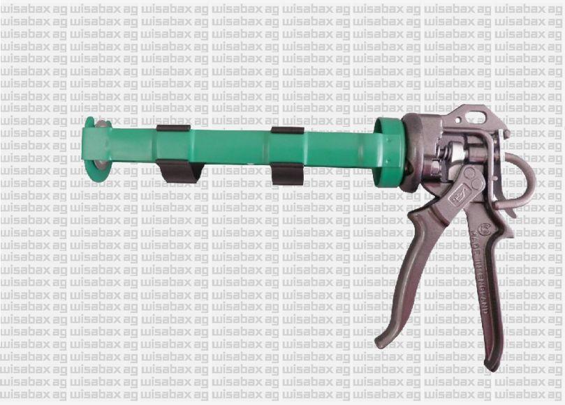Reinforced Skeleton'Reinforced filling pistol for highly viscous materials