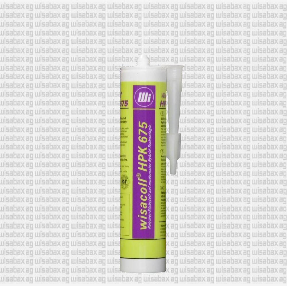 'Hybrid polymer adhesive for constructional, slightly elastic adhesive work, injectable, non-foaming, paintable