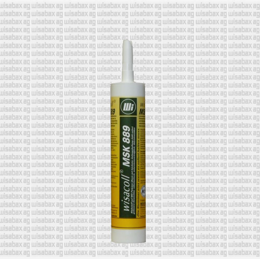 Wisacoll MSK 889'Zähelastischer MS Polymer-Klebstoff mit der höchsten Soforthaftung: Natursteinverträglich, weichmacherfrei, auch für Spiegel geeignet