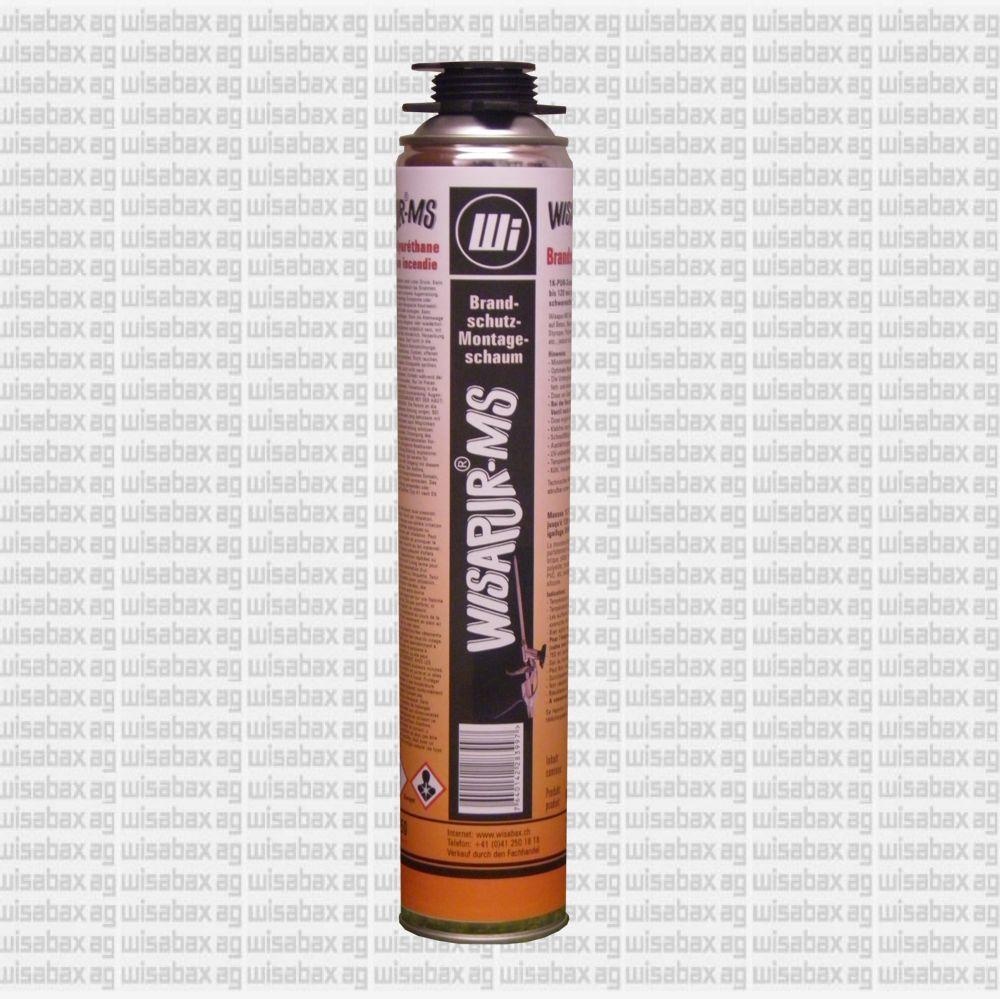Wisapur-MS Brandschutzschaum'1K-PUR-Schaum mit Feuerwiderstand bis 180 min gemäss  EN 1366-4, schwerentflammbar B1 gemäss DIN 4102-1